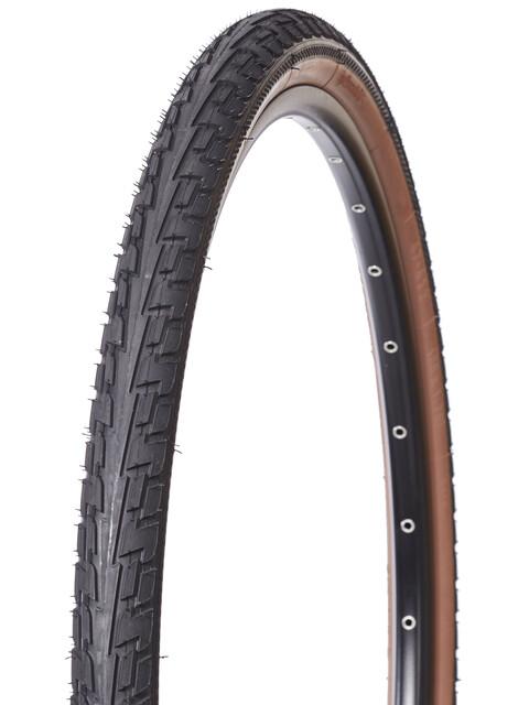 """Continental Ride Tour Cykeldæk 28"""" trådet brun"""